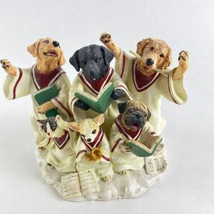 Big Sky Carvers Choir of Dogs Candle Holder